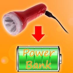 Внешний аккумулятор своими руками из бытового фонарика
