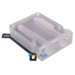 Фото Теплосъемник для видеокарты акриловый (никелированная медь)