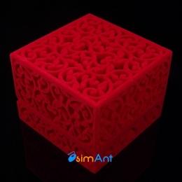Фото Подарочная коробка для колец Ажур красная