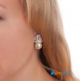 Фото Серьги-клипсы Корона жемчужины
