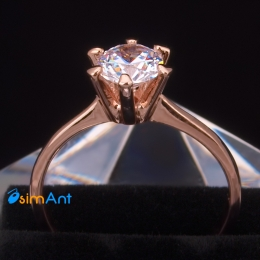 Фото Кольцо Лилия в розовом золоте