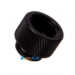Фото Прямой адаптер 10мм с внутренней и внешней резьбой G1/4 (насыщенный черный)
