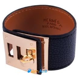 Фото Браслет кожаный Hermes черный