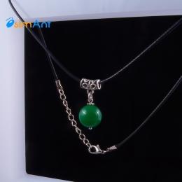 Фото Кулон Зеленый агат в серебре