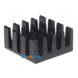 Фото Радиатор на чипы памяти 14x14мм (черные)