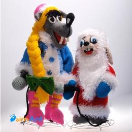 Фото Волк и заяц из Ну, погоди! (новогодние)