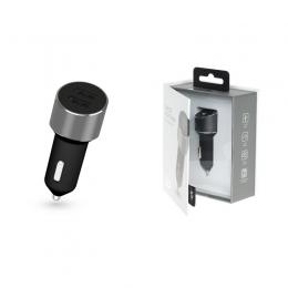 Фото Автомобильное ЗУ Kit Platinum Dual USB Charger (USB 3.4 A) Space Grey (USBCCALU3SG)