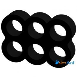 Фото Держатель кабеля 6-pin (питание видеокарты) черный закрытый