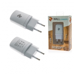Фото Сетевое ЗУ 2E USB Wall Charger 1A, White (2E-WCRT11-1W)