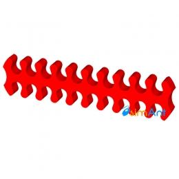 Фото Гребешок кабелей блока питания 20-pin красный открытый