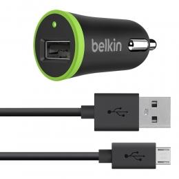 Фото Автомобильное ЗУ Belkin USB Charger 2.1A, черный с кабелем Micro-USB (F8M668bt04-BLK)