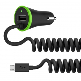 Фото Автомобильное ЗУ Belkin Boost UP 3.4A, черный с кабелем Micro USB + USB (F8M890bt04-BLK)