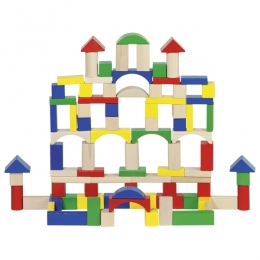 Фото Деревянный конструктор Строительные блоки Goki (58669)