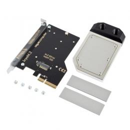 Фото Водоблок AquaComputer kryoM.2 PCIe 3.0 x4 adapter for M.2 NGFF PCIe SSD, M-Key with nickel plated