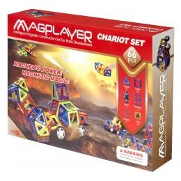 Фото Конструктор Magplayer магнитный набор 66 эл. (MPA-66)