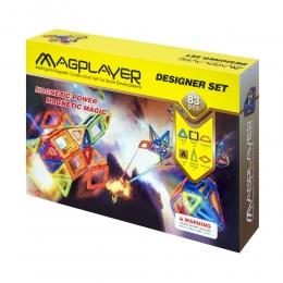 Фото Конструктор Magplayer магнитный набор 83 эл. (MPA-83)