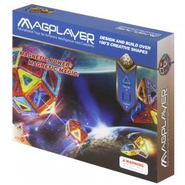 Фото Конструктор Magplayer магнитный набор 30 эл. (MPB-30)