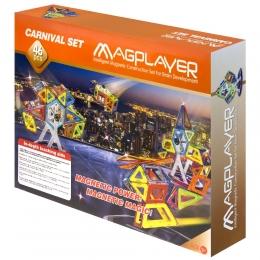 Фото Конструктор Magplayer магнитный набор 46 эл. (MPB-46)