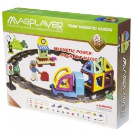Фото Конструктор Magplayer магнитный набор 68 эл. (MPK-68)