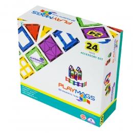 Фото Конструктор PlayMags магнитный набор 24 эл. (PM162)
