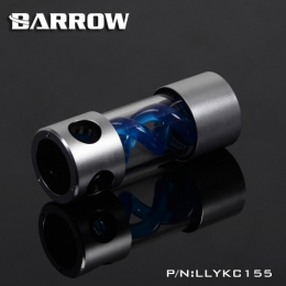 Фото Резервуар Barrow T Virus Reservoir 155 mm Silver-Black (Blue Spiral) (LLYKC155)