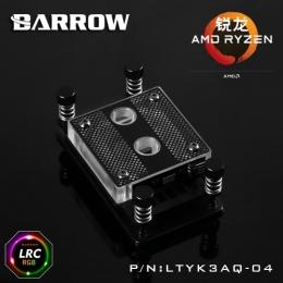 Фото Водоблок на процессор Barrow AMD AM4 Acrylic Black (LTYK3AQ-04)