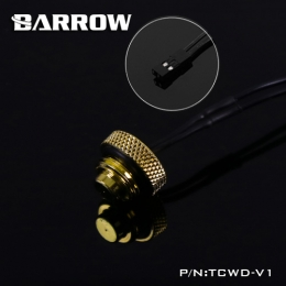 Фото Датчик температуры Barrow (TCWD-V1) в виде заглушки золото