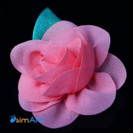 Фото Заколка для волос Цветок розовый