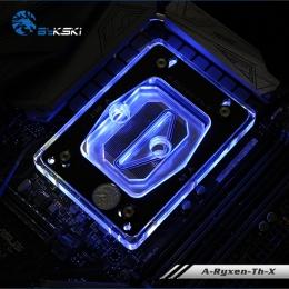 Фото Водоблок для процессора Bykski A-Ryzen-Th-X TR4, acrylic/nickel