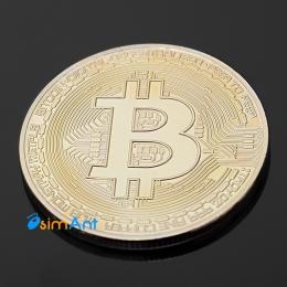 Фото Сувенирная монета Bitcoin (биткоин)