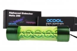Фото Резервуар цилиндрический Alphacool Eisbecher Helix 250mm Green Led