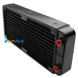 Фото Алюминиевый радиатор водяного охлаждения 240х120x40мм