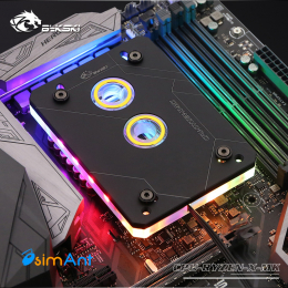 Фото Водоблок для процессора AMD Ryzen AM4 Bykski (CPU-RYZEN-X-MK)