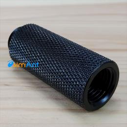 Фото Прямой адаптер 40мм с внутренней и внешней резьбой G1/4 (черный)