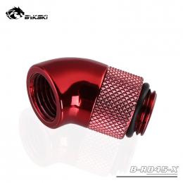 Фото Угловой переходник 45 градусов Bykski (B-RD45) красный