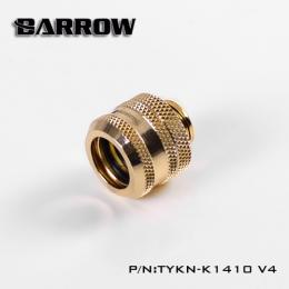 Фото Штуцер для жестких трубок Barrow 14мм с гайкой , золотой (TYKN-K1410 V4)