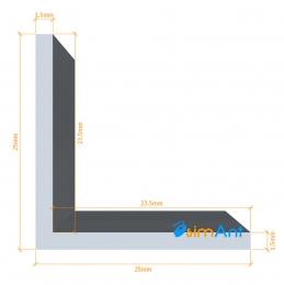 Фото Алюминиевый уголок анодированный 25х25х1.5мм