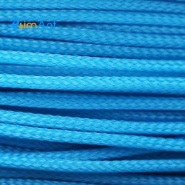 Фото Нейлоновая оплетка для кабеля голубая 3мм