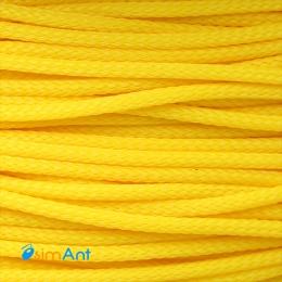 """Фото Нейлоновая оплетка """"змеиная кожа"""" желтая 3мм"""