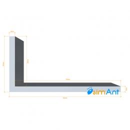 Фото Алюминиевый уголок анодированный 80х40х4мм