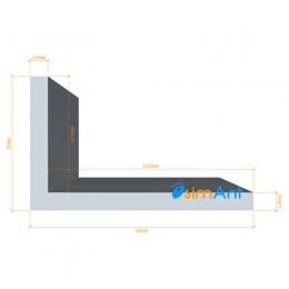 Фото Алюминиевый уголок анодированный 25х15х1.5мм