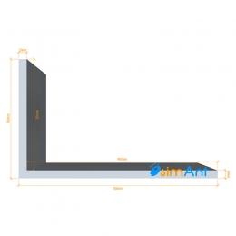 Фото Алюминиевый уголок анодированный 50х30х2мм