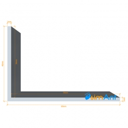 Фото Алюминиевый уголок анодированный 60х40х2мм