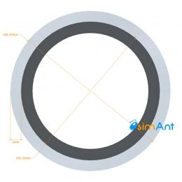 Фото Труба алюминиевая круглая анодированная 30х2мм