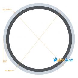 Фото Труба алюминиевая круглая анодированная 50х2мм