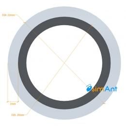 Фото Труба алюминиевая круглая анодированная 22х2мм