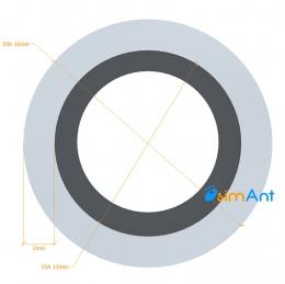 Фото Труба алюминиевая круглая анодированная 16х2мм