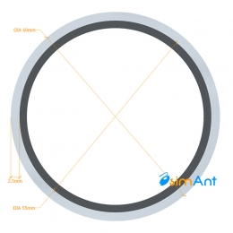 Фото Труба алюминиевая круглая анодированная 60х2.5мм