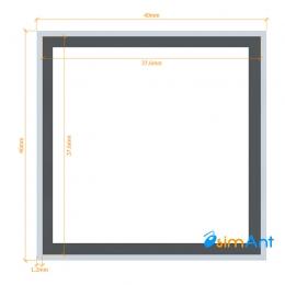 Фото Труба алюминиевая квадратная анодированная 40х40х1.2мм