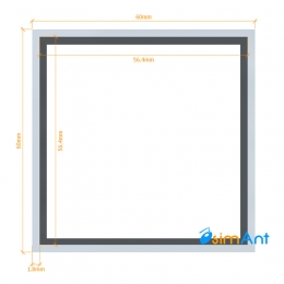 Фото Труба алюминиевая квадратная анодированная 60х60х1.8мм